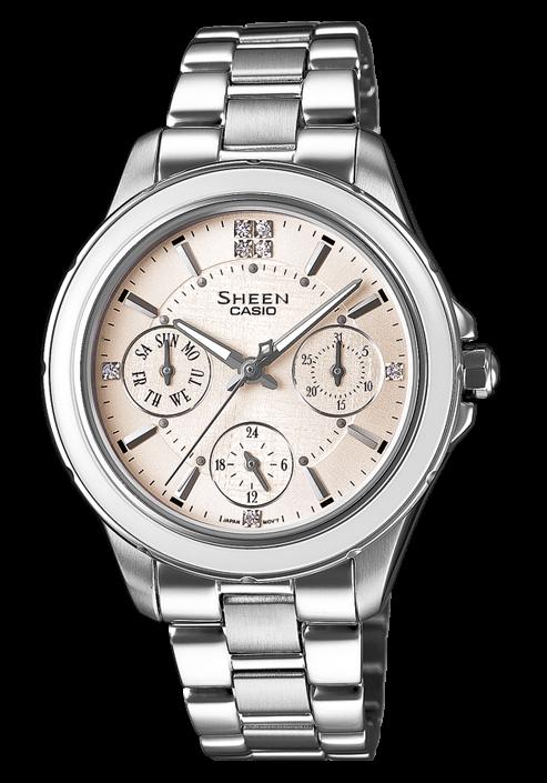 Часы Casio SHE-3508D-7A. . Коллекция Sheen Кварцевые часы. . 12/24 часовой формат времени
